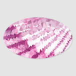 Abstract mosaic waves oval sticker