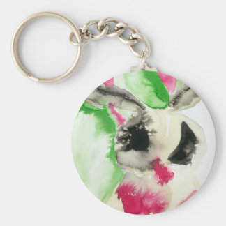 Abstract Moth Keychain