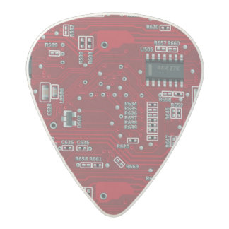Abstract motherboard acetal guitar pick