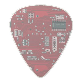 Abstract Motherboard Acetal Guitar Pick by boutiquey at Zazzle