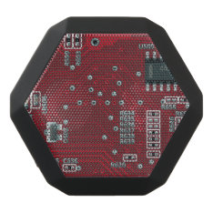 Abstract motherboard black bluetooth speaker at Zazzle