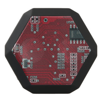 Abstract motherboard black bluetooth speaker