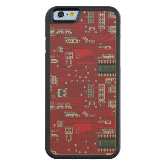 Abstract motherboard carved maple iPhone 6 bumper case