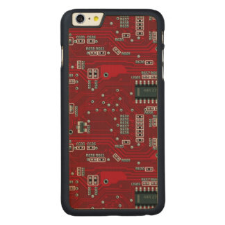 Abstract motherboard carved maple iPhone 6 plus slim case