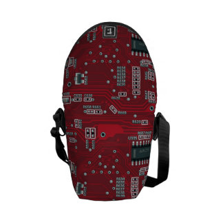 Abstract motherboard courier bag