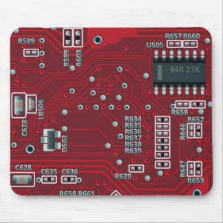 Abstract motherboard mouse pad