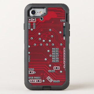 Abstract motherboard OtterBox defender iPhone 7 case