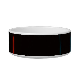Abstract Motion Lights Pet Food Bowls