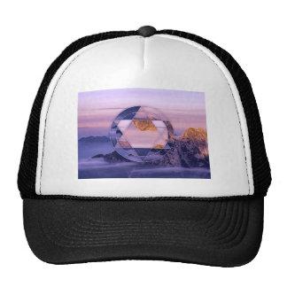 Abstract mountain landscape shirt trucker hat