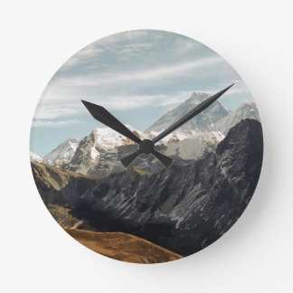 Abstract mountains Himalaya nature Round Clock