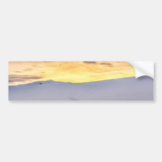 Abstract Mountains with Snow at Sunset Bumper Sticker