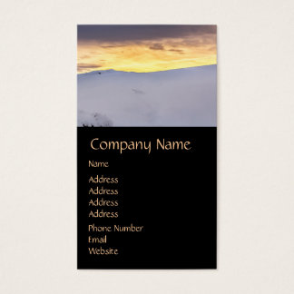 Abstract Mountains with Snow at Sunset Business Card