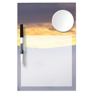 Abstract Mountains with Snow at Sunset Dry Erase Board With Mirror