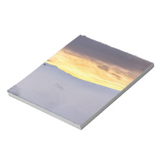 Abstract Mountains with Snow at Sunset Notepad