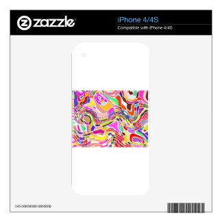 Abstract Movement Art in Bright Colors Skins For The iPhone 4S