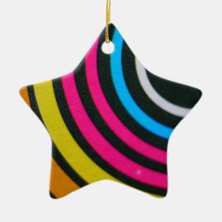 Abstract multi color background ceramic ornament