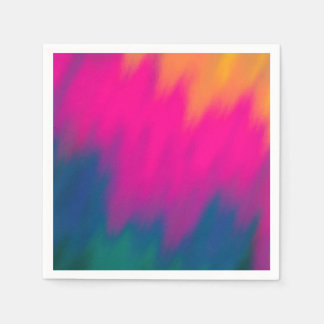 Abstract Multi Color Background Paper Napkin