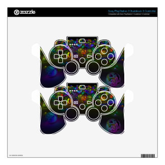 Abstract Multi Color Circles PS3 Controller Skin