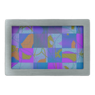 Abstract Multi-Color Design Belt Buckle