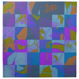 Abstract Multi-Color Design Cloth Napkin