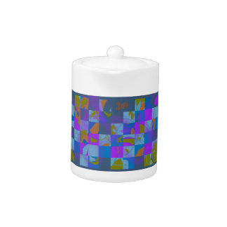 Abstract Multi-Color Design on Teapot