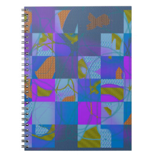 Abstract Multi-Color Design Spiral Notebook