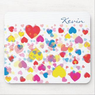 Abstract Multi-color Heart mousepad