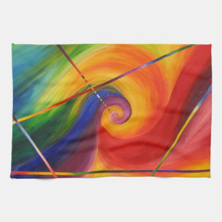 abstract multi-color kitchen towel