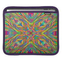 Abstract Multi Color  Pattern Sleeve For iPads