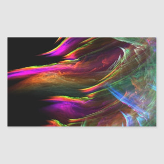 Abstract Multi Color Waves in Motion Rectangular Sticker