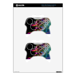 Abstract Multi Color Waves in Motion Xbox 360 Controller Skin