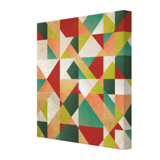 Abstract Multi Colored Linear Design Gallery Wrapped Canvas