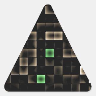 Abstract Multi Colored Square Triangle Sticker