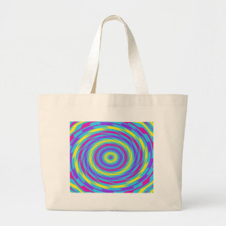 Abstract multi colored swirl tote bag