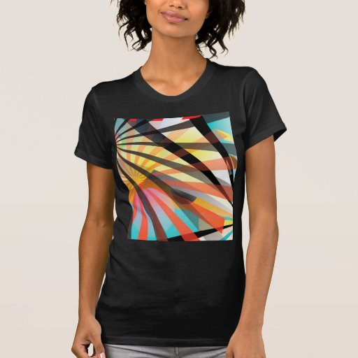 Abstract multi colour shirt