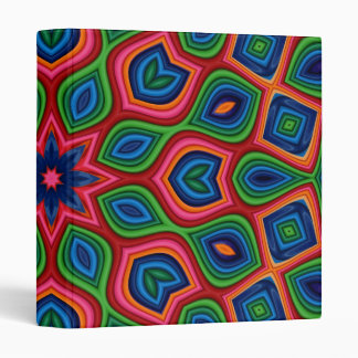 Abstract Multicolor Design Binder