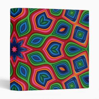 Abstract Multicolor Design Binders