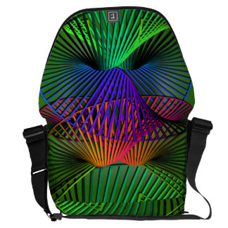 Abstract Multicolor Helix Messenger Bag