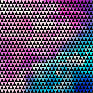 Abstract multicolor nebula triangles pattern cutout