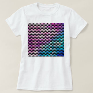 Abstract multicolor nebula triangles pattern T-Shirt