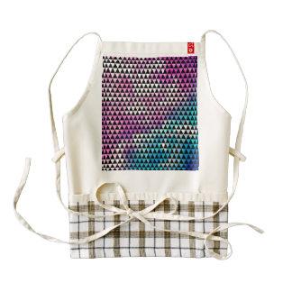 Abstract multicolor nebula triangles pattern zazzle HEART apron