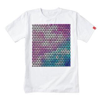 Abstract multicolor nebula triangles pattern zazzle HEART T-Shirt