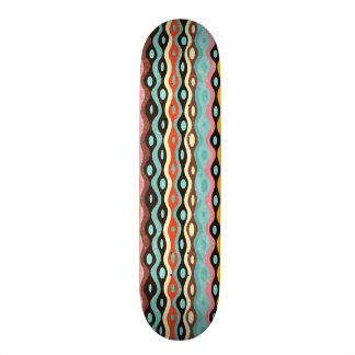 Abstract multicolor pattern skateboard deck