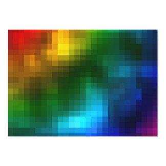 """Abstract Multicolor Square Design 5"""" X 7"""" Invitation Card"""