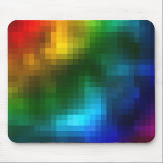 Abstract Multicolor Square Design Mousepads