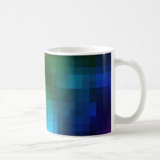 Abstract Multicolor Square Design Mug
