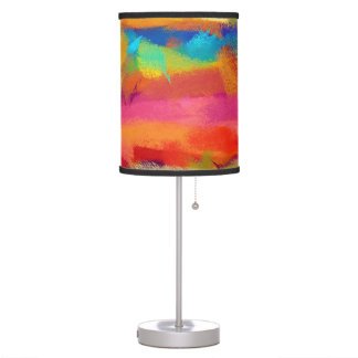 Abstract Multicolor Watercolor Pattern #3 Desk Lamp