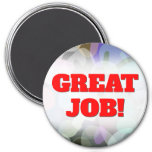 [ Thumbnail: Abstract Multicolored Blotch Pattern Round Magnet ]