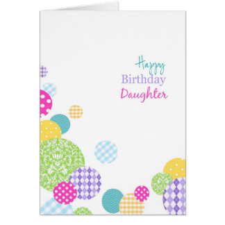 Abstract multicolored dots Happy Birthday daughter Greeting Cards