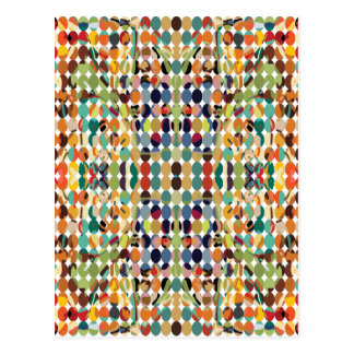 Abstract Multicolored Dots Postcards